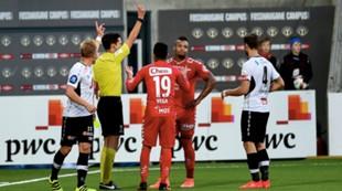 Sogndal - Brann 0-0: Bismar Acosta blir utvist