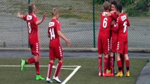 G16 Brann - Start 3-1: Håkon Gjerstad feirer scoring