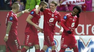 Azar Karadas, Birkir Már Sævarsson, Amin Askar. Brann mot Sogndal, Tippeligaen, Brann Stadion 2. november 2014.