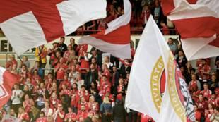 Brann - Aalesund 6-0: Flagg supportere fans