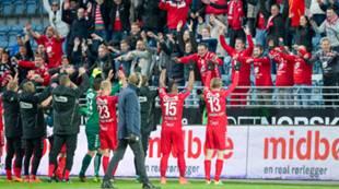 Viking - Brann 0-1: laget jubler med fansen etter overtidsseieren