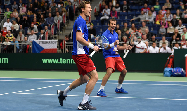 Radek Stepanek's wonderful overhead is Saturday's shot of the day