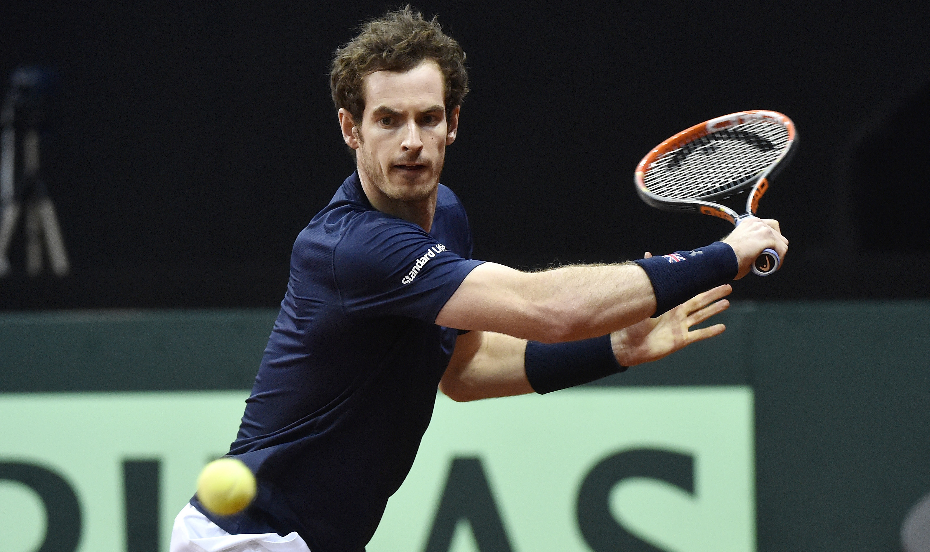 Andy Murray claims Friday's shot of the day at the 2015 Davis Cup Final