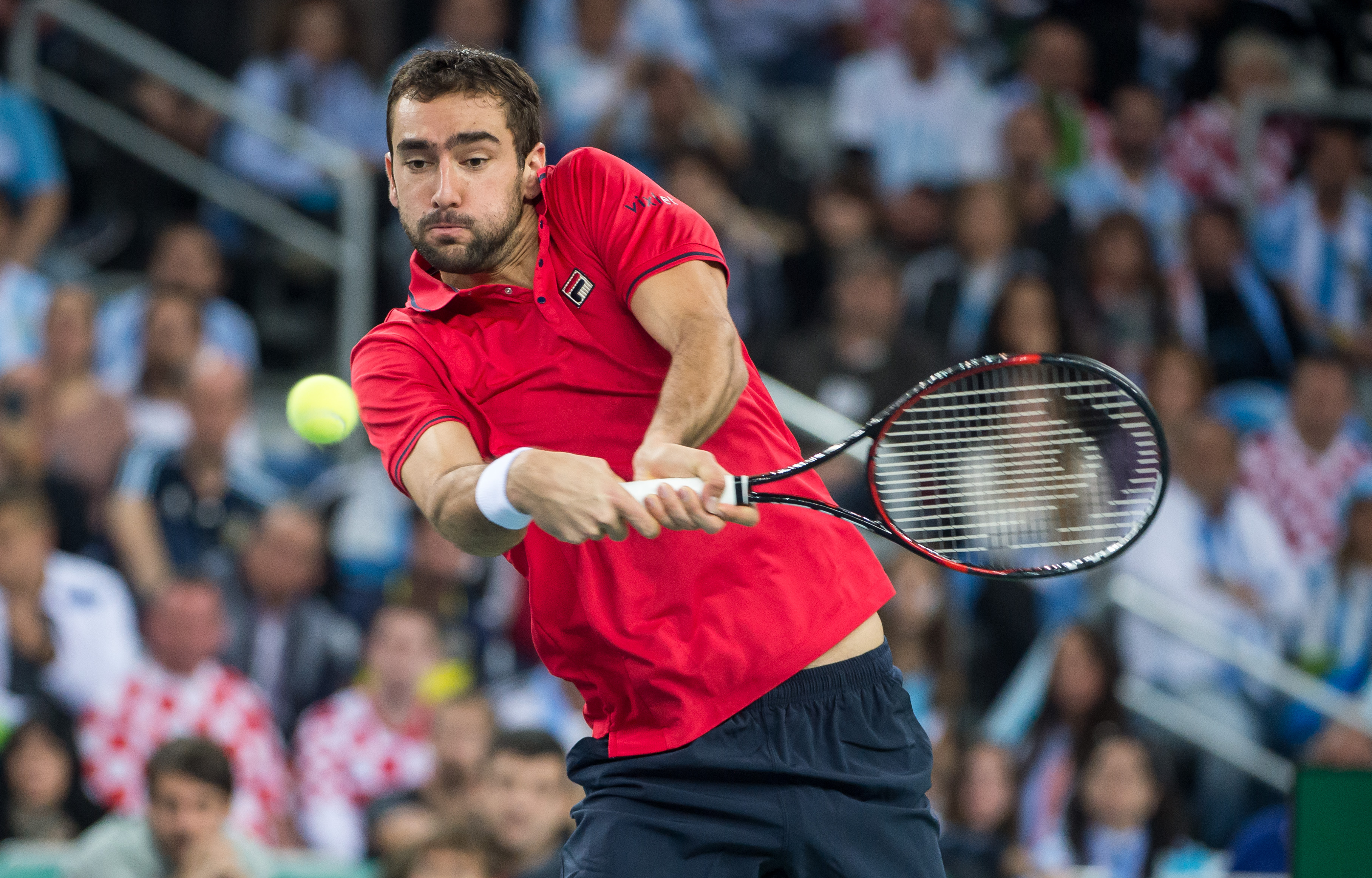 Marin Cilic's sensational return winner against Federico Delbonis is Friday's shot of the day