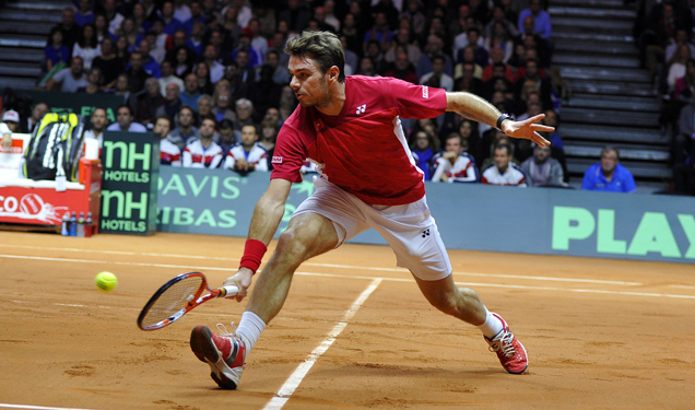 Highlights: Jo-Wilfried Tsonga (FRA) v Stan Wawrinka (SUI)
