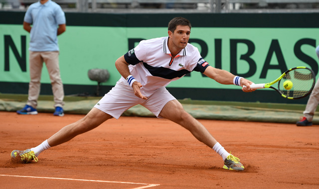 Argentina's Federico Delbonis hits Friday's shot of the day