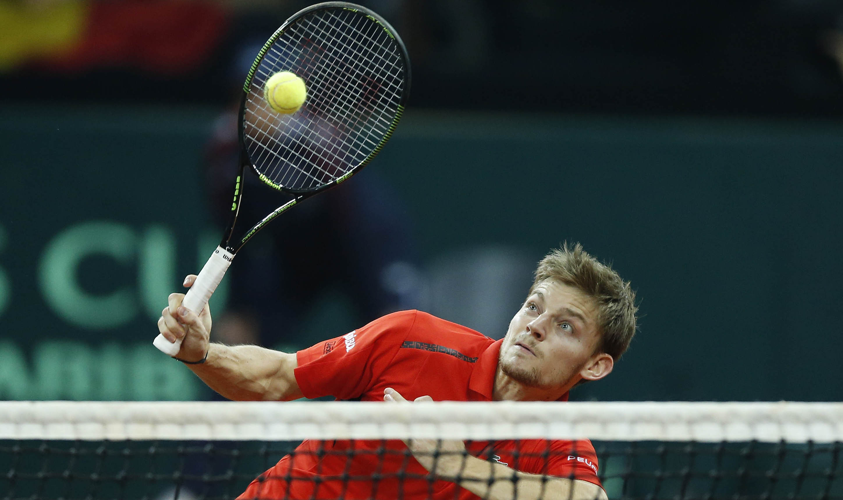 David Goffin hits a wonderful winner to clinch a great doubles point