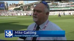 Gatting on Kerrigan and Woakes