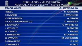 1st T20 - Adelaide - Australia innings