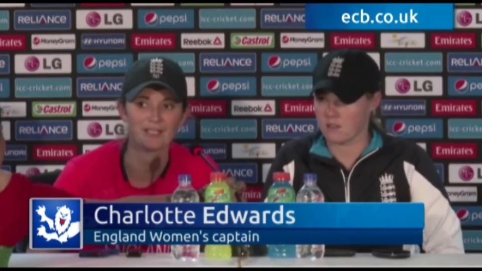 England Women register first win