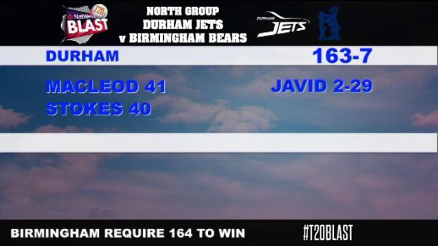 Durham v Birmingham Bears - NatWest T20 Blast, Birmingham Bears Innings