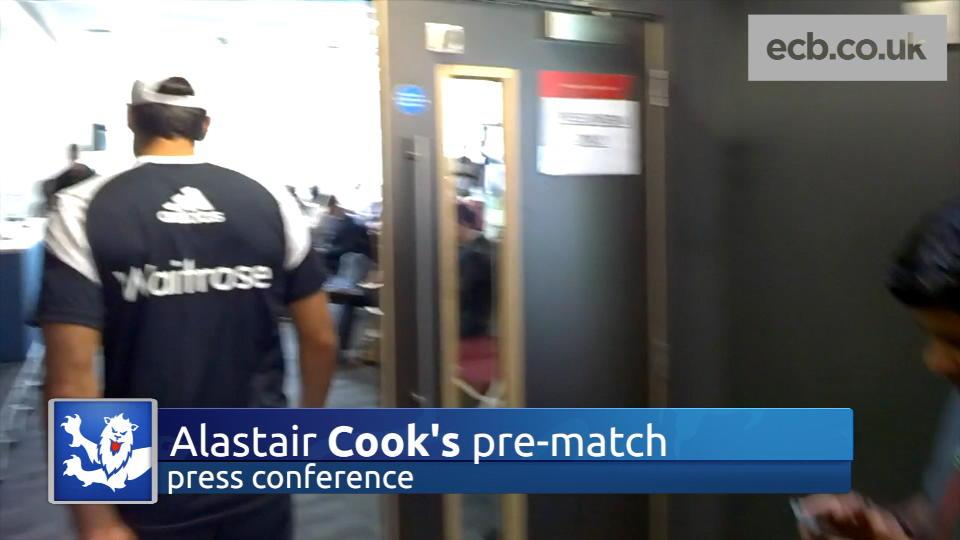 Behind the scenes at Cook's press conference