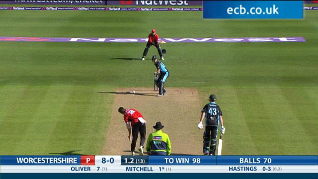 Worcestershire Rapids v Durham Jets - NatWest T20 Blast, Worcestershire Innings