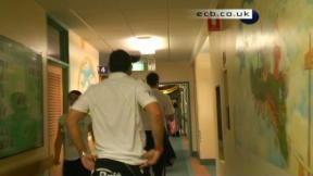 England team visit Children's Hospital