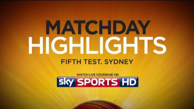 5th Ashes Test, Sydney Day 3 - Evening