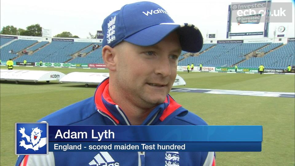 Lyth thrilled with maiden ton