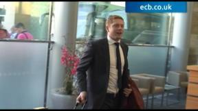 England team leave for Australia