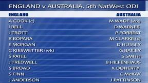 5th NatWest ODI - Old Trafford - Australia innings