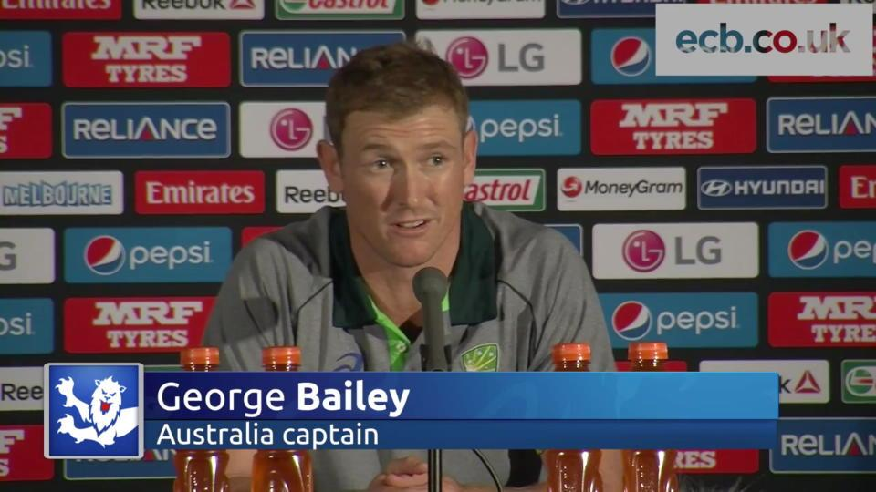 Australia captain George Bailey wary of England threat in ICC Cricket World Cup opener