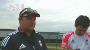 TwelfthMan In the Nets with the England Team