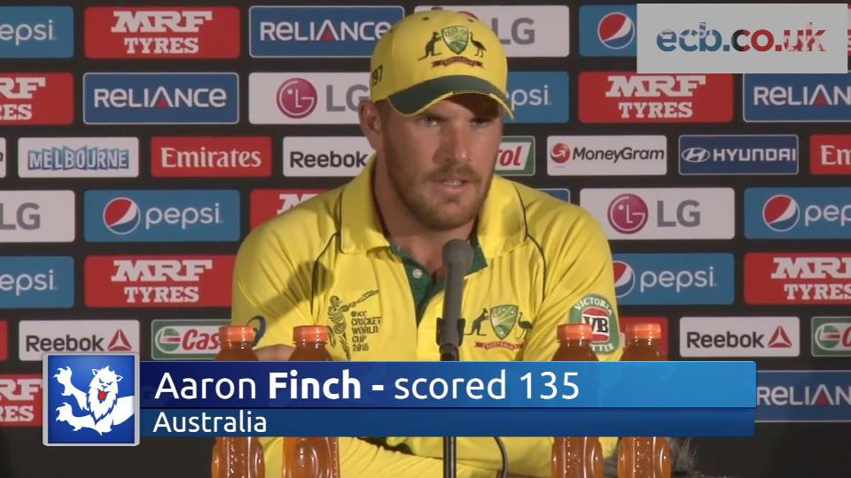 Finch delighted with 'special' ton v England