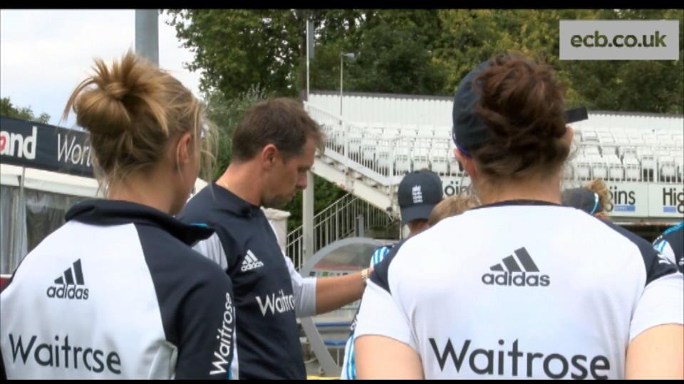 England Women training session