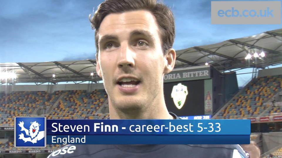 Five-fer hero Steven Finn happy with bowling