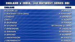 3rd NatWest Series ODI – The Kia Oval - India innings