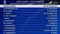 2nd ODI - Hobart - Australia innings