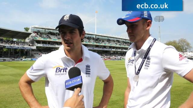 Cook and Broad revel in win