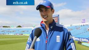 Finn pleased with England position