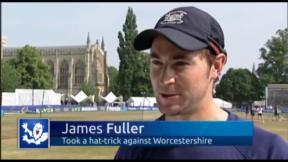 Fuller revels in hat-trick glory