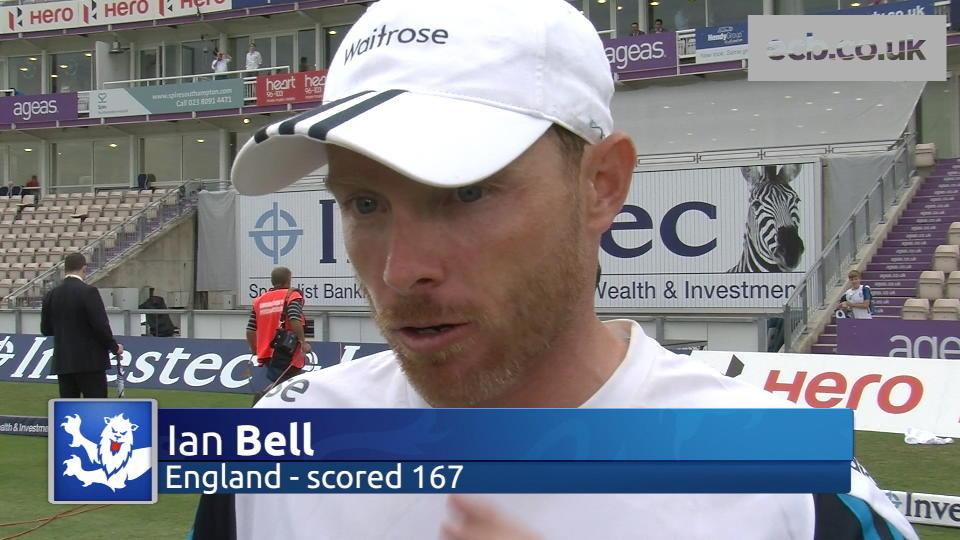 Bell delighted with England's progress