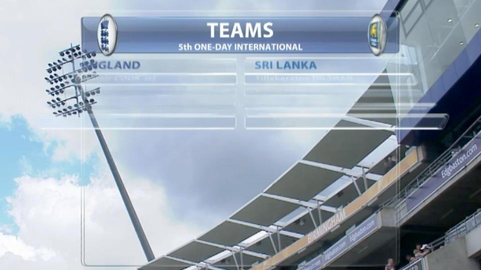 England v Sri Lanka, 5th ODI - England innings