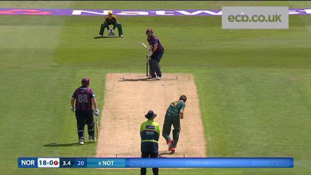 Nottinghamshire v Northamptonshire - NatWest T20 Blast, Northamptonshire Innings