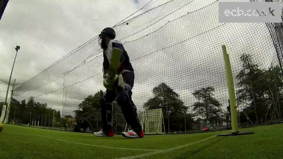 Moeen Ali in the nets