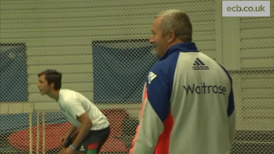 England put on coaching session