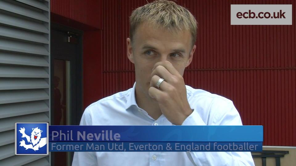 Cricket chat with football star Phil Neville