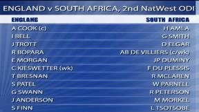 2nd NatWest Series ODI - South Africa innings