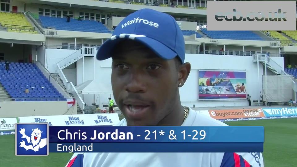 Jordan happy with England's position