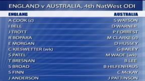 4th NatWest ODI - Emirates Durham ICG - Australia innings