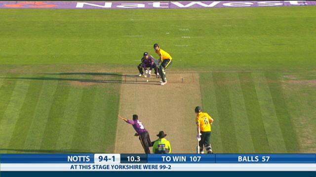 Yorkshire v Nottinghamshire - Natwest T20 Blast, Nottinghamshire Innings