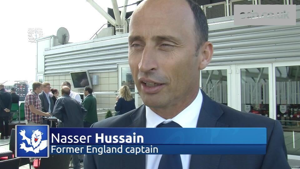 Nasser Hussain on 200 not out for Sky Sports