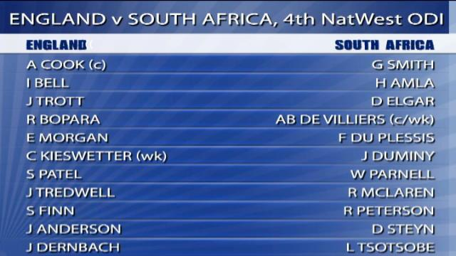 4th NatWest Series ODI - South Africa innings