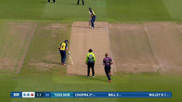 Northamptonshire v Birmingham - Natwest T20 Blast, Birmingham Innings