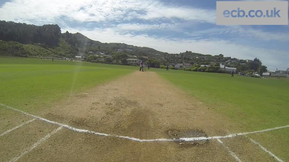 Chris Woakes, Steven Finn and Joe Root bowling - GoPro footage