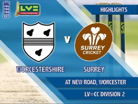 19 Aug - Worcs v Surrey - Day 4: Shakib's six sinks Surrey