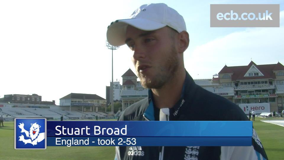 Broad happy with bowlers
