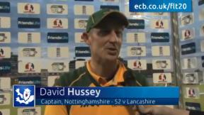 Hussey helps Notts to victory