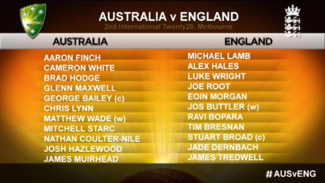 Australia v England: 2nd T20 International, Melbourne – England Innings